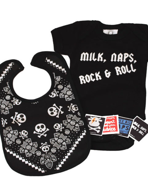 Rock n Roll Baby Gift Set, Rock Baby Shower Gift