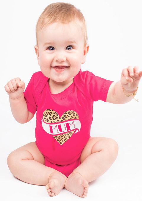 Rockabilly Baby Grow, Pink Girls Tattoo Baby Vest