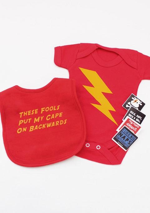 Superhero Baby Gift Set, Flash DC Baby Gift