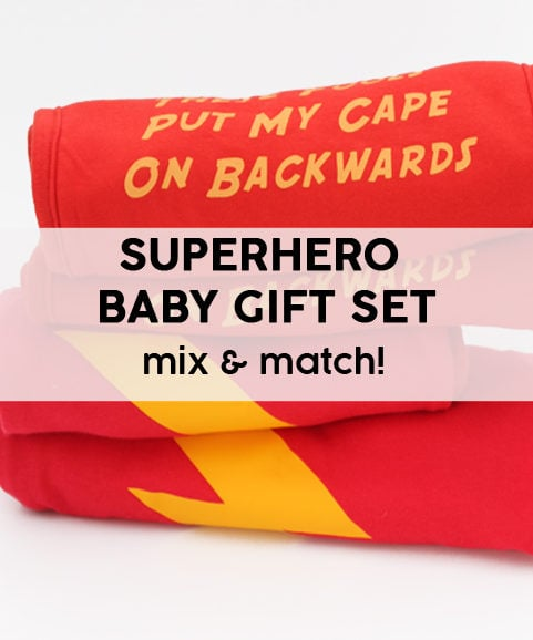 Superhero Baby Gift Set - Make Your Own Mix & Match Comic Baby Present