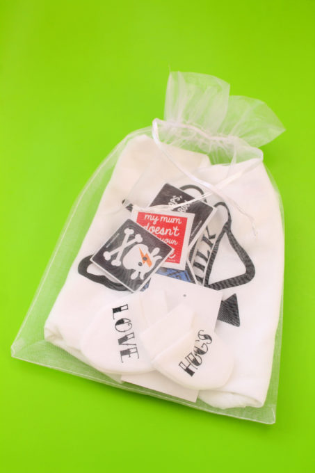 Tattoo Lover Quirky New Baby Gift Set Bag
