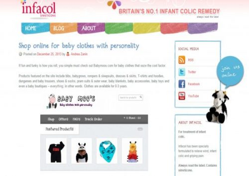 Baby Moo's Infacol Feature Dec 2013