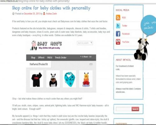Baby Moo's Cool Baby Clothes Featured By Infacol