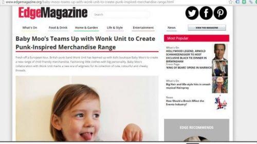 Wonk Unit & Baby Moo's Kids Band T-Shirts