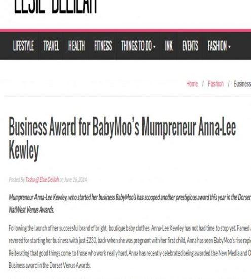 Baby Moo's Founder Award Winning Childrenswear Designer