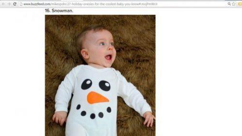 Buzzfeed Holiday onesies Dec 15