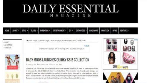 Children's Fashion Daily Essential Feature - June 2015