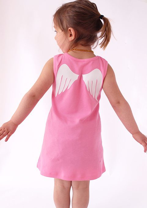 Cute Baby Dresses Angel Wings Baby Girls Clothes Baby