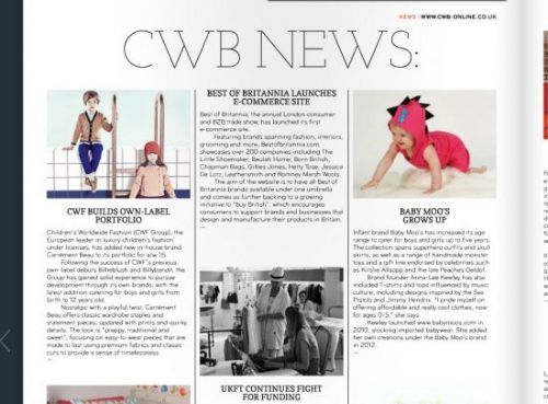CWB Print Magazine Childrenswear Trade Buyers Dec2014