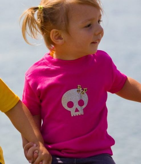 Baby & Toddler Top with skull glitter print
