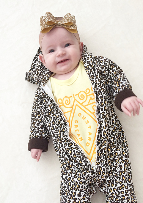 56827325b1a3 Leopard Print All In One | Animal Print Baby Outfit | BABY MOO'S ®