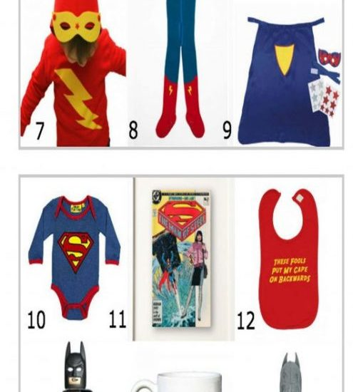 Superhero Baby & Toddler Clothes Feature on Blog, Features Baby Moo's Superhero Funny Bib & Supehero Boys Hoodie