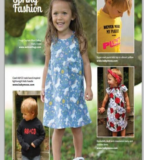 My family magazine, summer punk baby clothes -Feb 2015