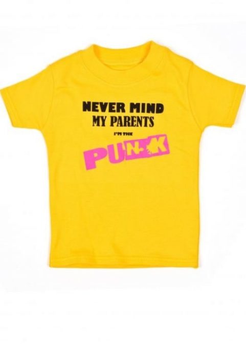Yellow Punk Baby & Toddler T-Shirts | Funky Funny Baby T-shirt