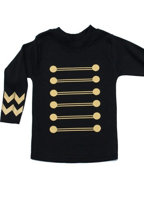 Military Baby Top Black Gold Military Kids Top Baby Moo S