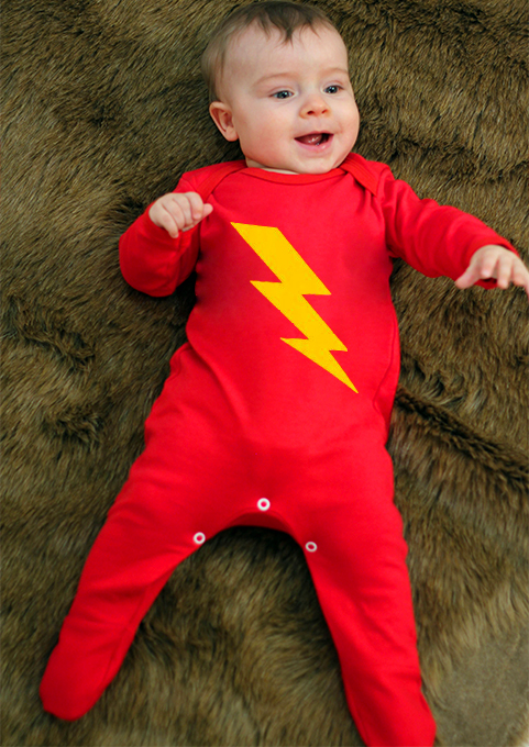 Superhero Baby Sleepsuit Flash Baby Clothes Free Gift Wrap