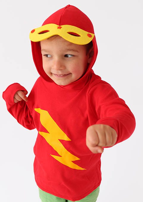 Superhero Kids Hoodie, Funky Kids Hoodie with mask feature making it a great costume