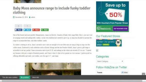 Funky Toddler Clothing Feature KidZine - November 2014